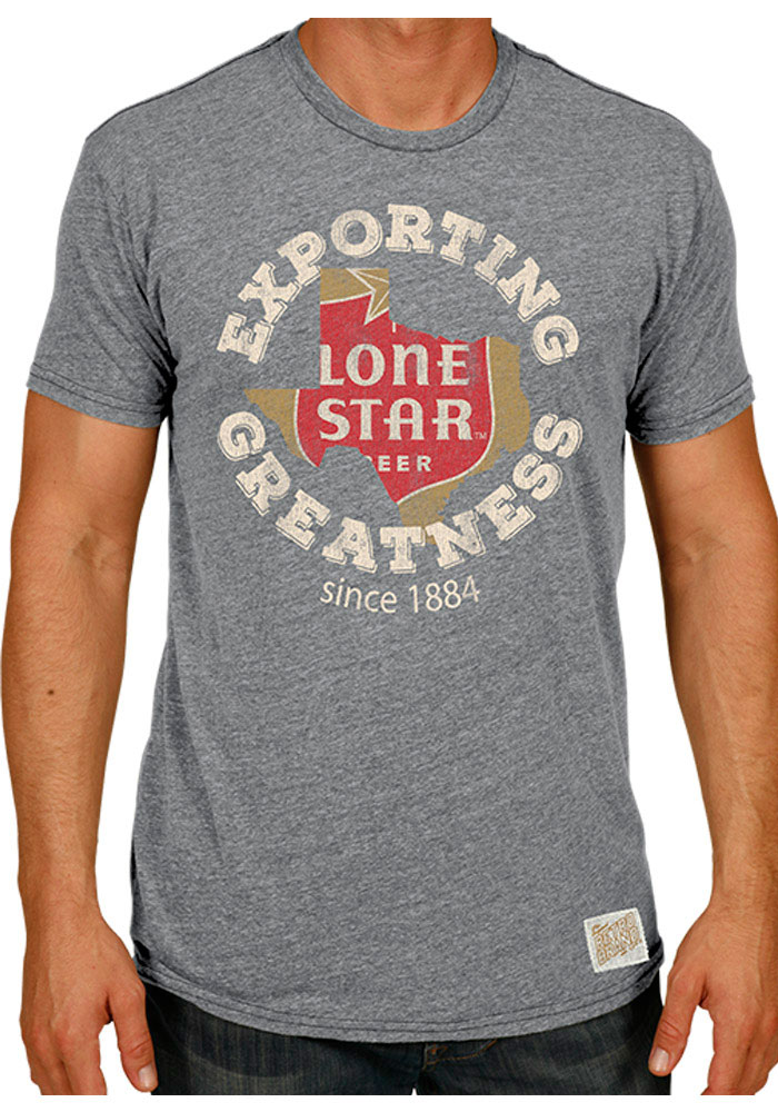 Original Retro Brand Lone Star Beer Grey Exporting Greatness Short Sleeve Fashion T Shirt - Image 1