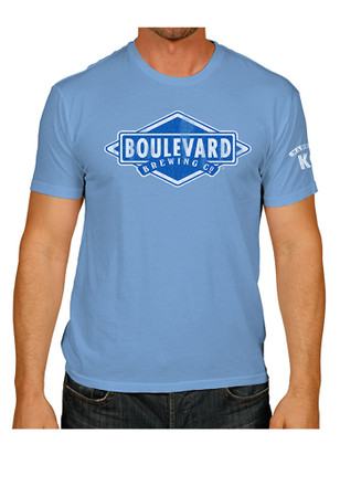 Boulevard Light Blue Logo Short Sleeve Tee
