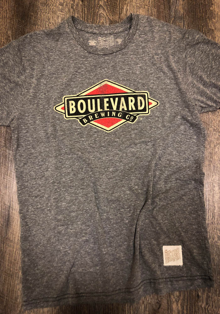 484035eed Original Retro Brand Boulevard Grey Color Logo Short Sleeve Fashion T Shirt  - Image 2