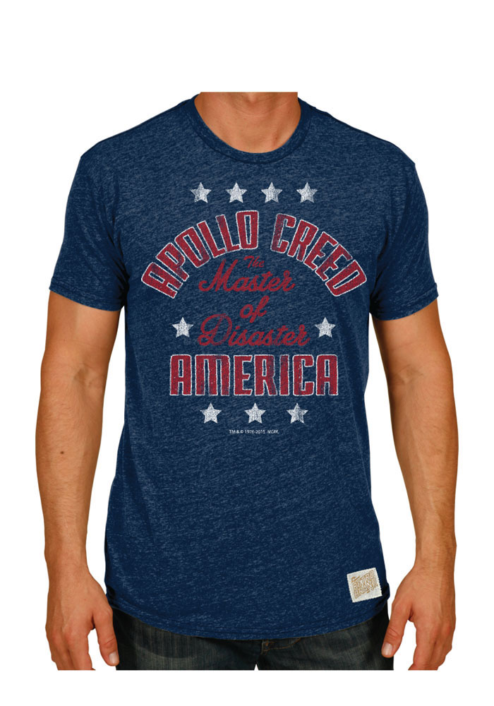 Original Retro Brand Philadelphia Navy Blue Apollo Creed America Short Sleeve T Shirt - Image 1