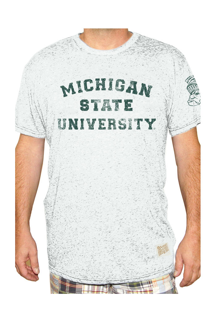Original Retro Brand Michigan State Spartans White Mens University Tee - Image 1
