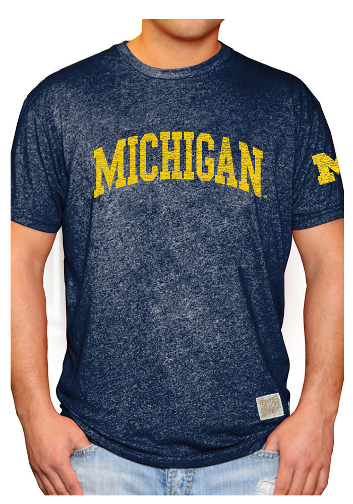 Original Retro Brand Michigan Wolverines Mens Mock Twist Short Sleeve Fashion T Shirt - Image 1