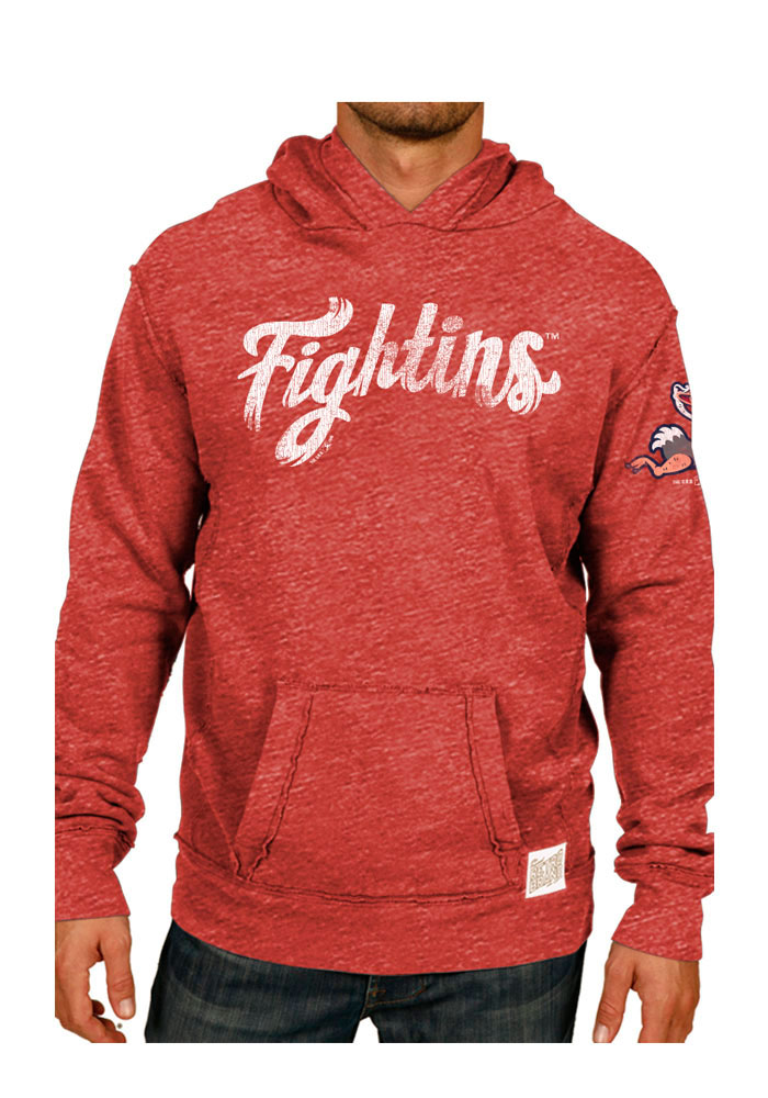Original Retro Brand Reading Fightin Phils Mens Red Pullover Fashion Hood - Image 1