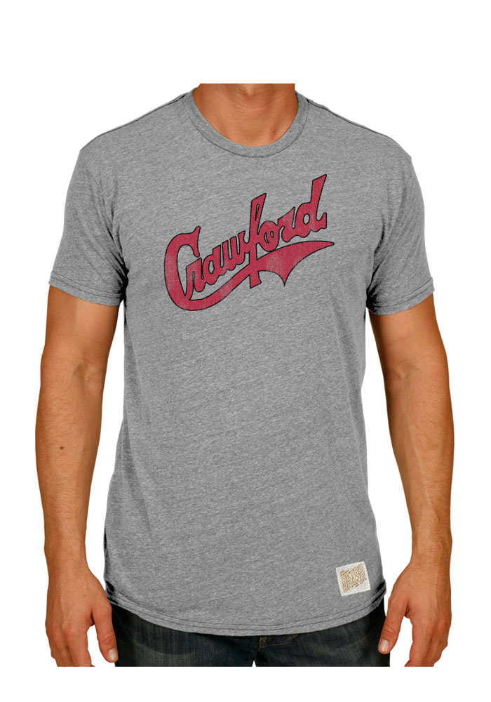 Original Retro Brand Pittsburgh Crawfords Grey Wordmark Short Sleeve Fashion T Shirt - Image 1