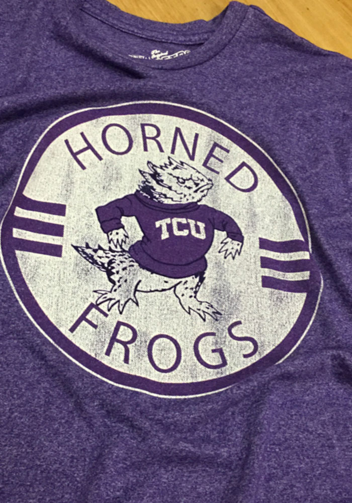 Original Retro Brand TCU Horned Frogs Purple Vintage Short Sleeve Fashion T Shirt - Image 2