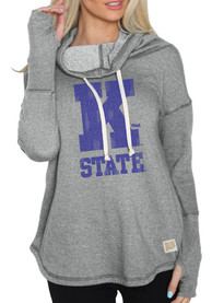 K-State Wildcats Womens Grey Funnel Neck Hoodie