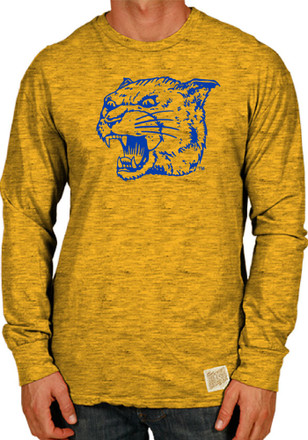 Original Retro Brand Panthers Mens Gold Angry Fashion Tee