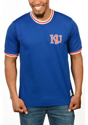 Original Retro Brand Kansas Jayhawks Mens Blue Rocky Fashion Tee