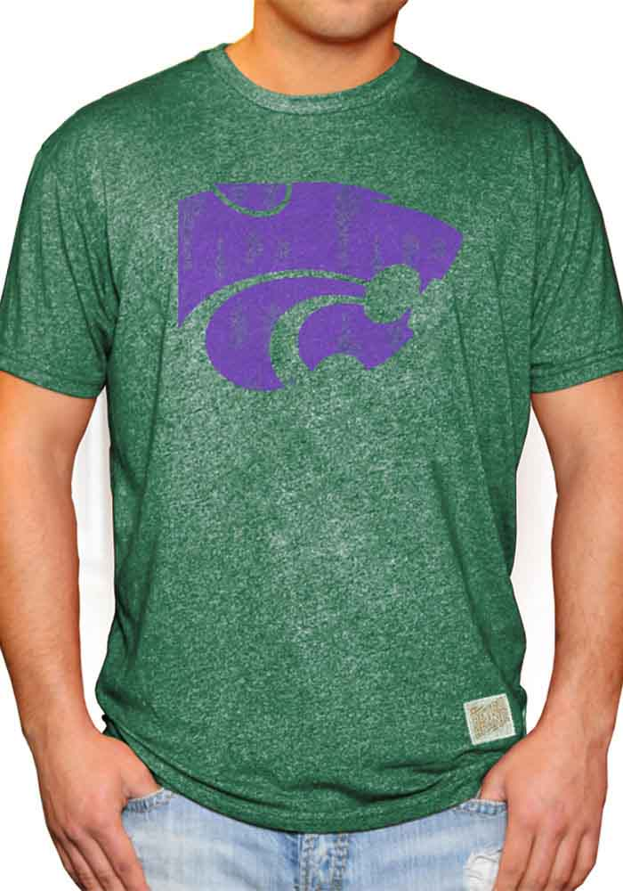Original Retro Brand K-State Wildcats Green St. Pats Short Sleeve Fashion T Shirt - Image 1