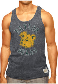 Baylor Bears Original Retro Brand Arch Logo Tank Top - Charcoal