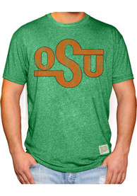 Original Retro Brand Oklahoma State Cowboys Green Distressed Fashion Tee