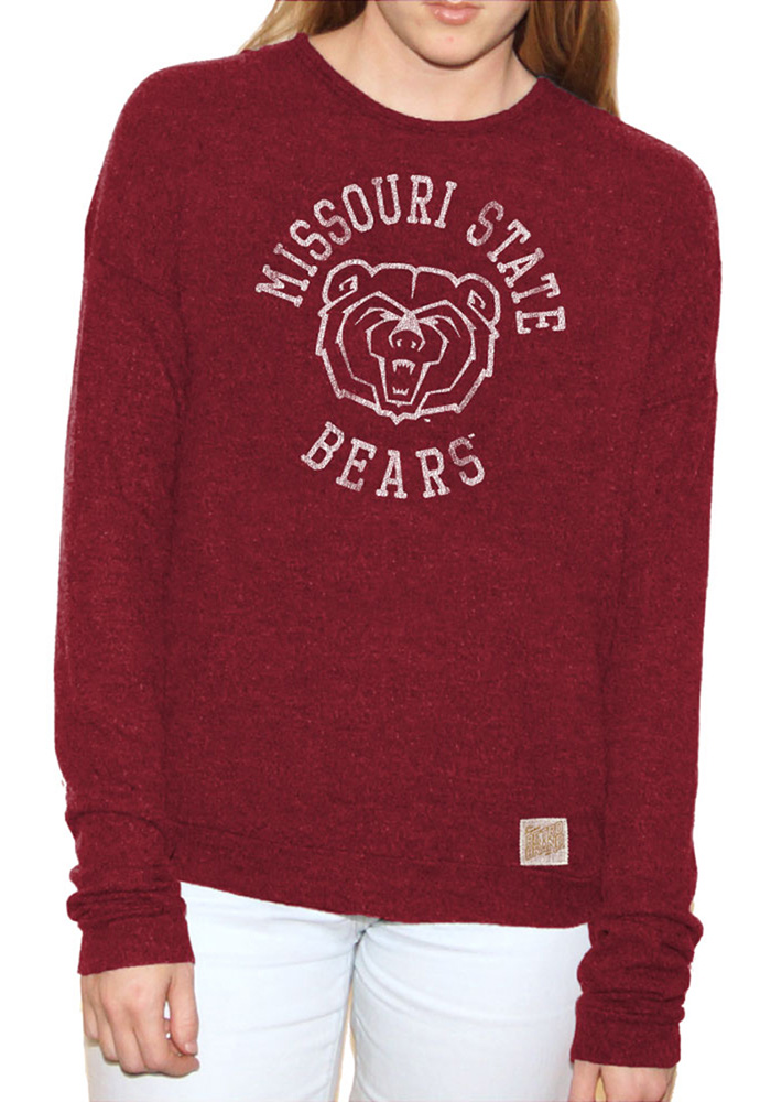 Original Retro Brand Missouri State Bears Womens Joy Maroon Crew Sweatshirt