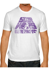 Original Retro Brand K-State Wildcats White Use The Force Fashion Tee