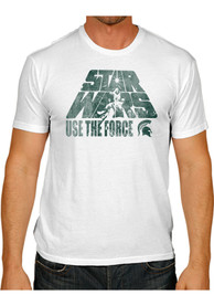 Original Retro Brand Michigan State Spartans White Use The Force Fashion Tee