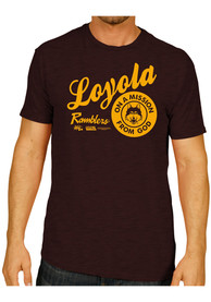 Original Retro Brand Loyola Ramblers Maroon Mission From God Fashion Tee