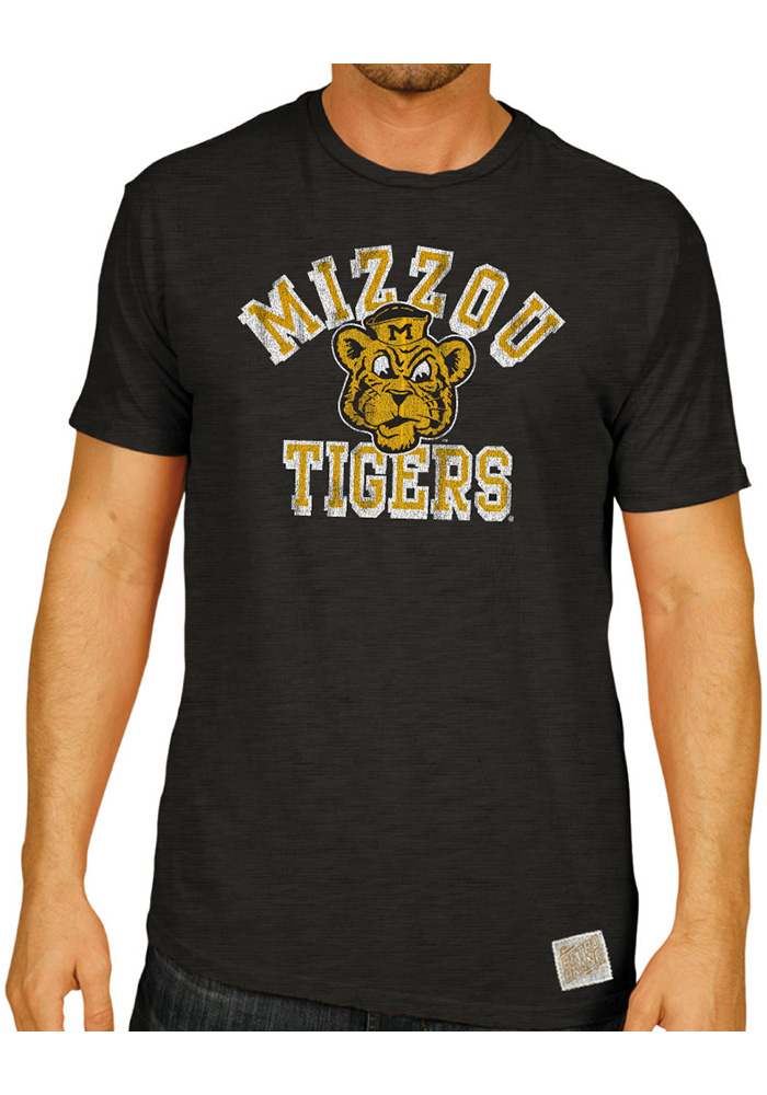 Original Retro Brand Missouri Tigers Black Arch Logo Fashion Tee