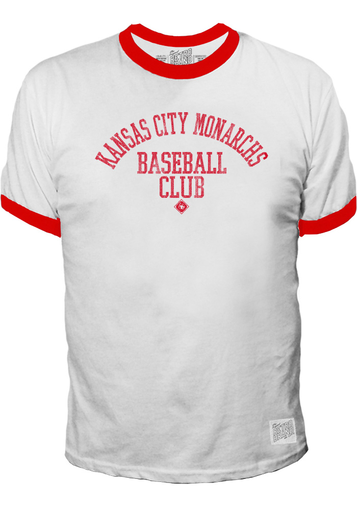 Original Retro Brand Kansas City Monarchs White Ringer Short Sleeve Fashion T Shirt - Image 1