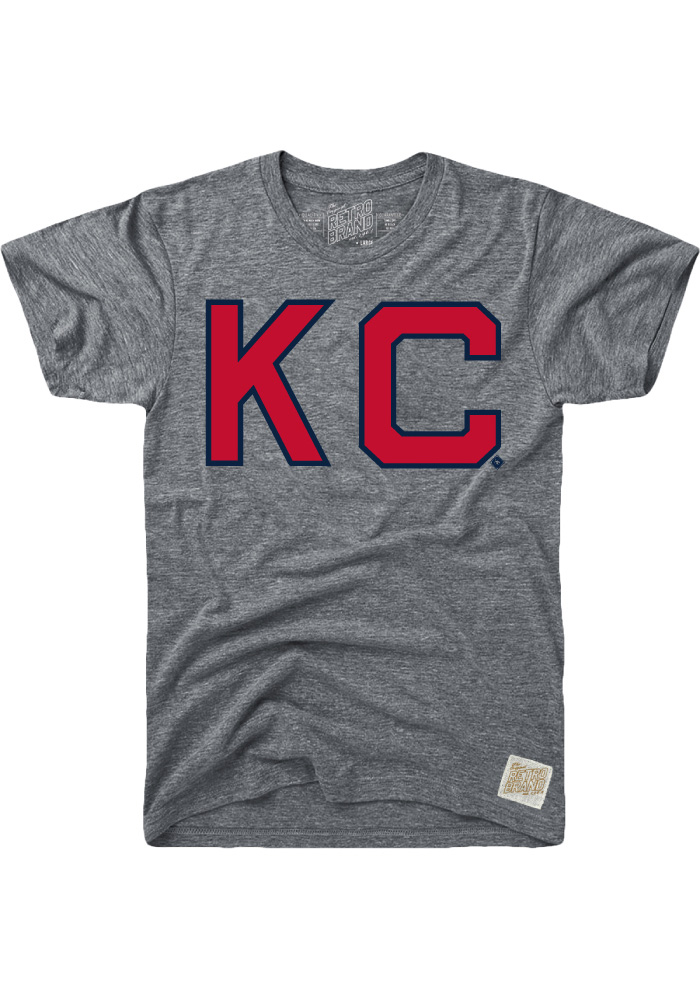 Original Retro Brand Kansas City Monarchs Grey Name and Number Short Sleeve Fashion T Shirt - Image 1