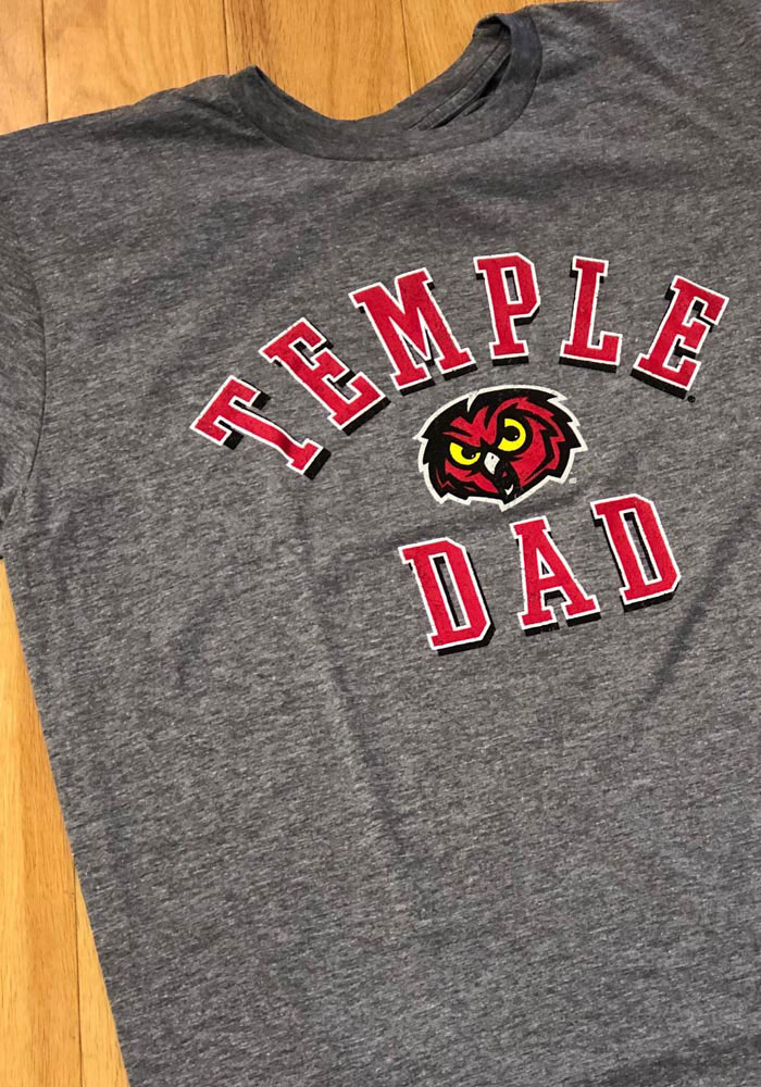 Temple Owls Grey Shadow Arc Dad Short Sleeve T Shirt - Image 2