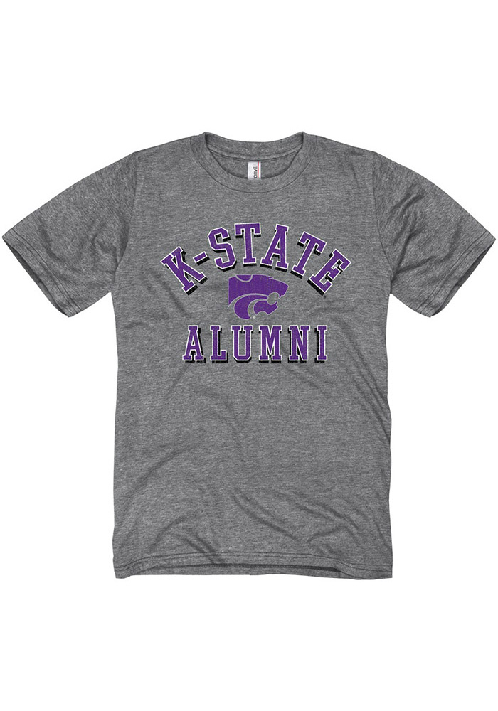 K-State Wildcats Grey Shadow Arc Alumni Short Sleeve T Shirt - Image 1