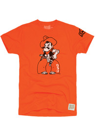 Original Retro Brand Oklahoma State Cowboys Orange Cowboy Pete Fashion Tee