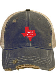 Texas Original Retro Brand Lone Star Adjustable Hat - Navy Blue