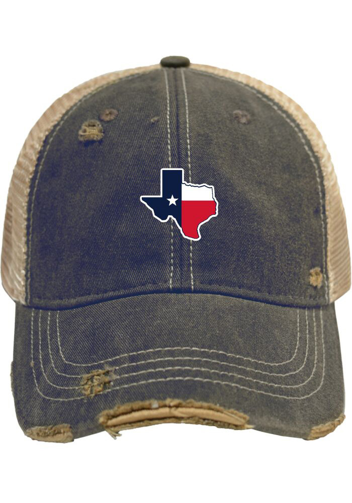 Original Retro Brand Texas Mens Navy Blue Meshback Adjustable Hat - Image 1