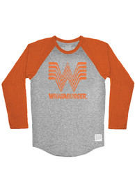 Texas Grey Whataburger Raglan ¾ Sleeve T Shirt