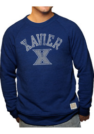 Original Retro Brand Xavier Musketeers Navy Blue Vault Logo Fashion Sweatshirt
