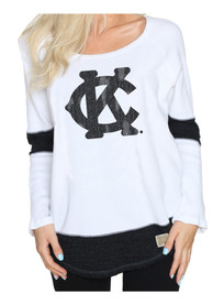 Original Retro Brand Kansas City Monarchs Womens Harper White LS Tee