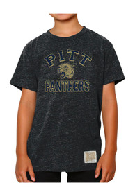 Original Retro Brand Pitt Panthers Youth Navy Blue TriBlend Fashion Tee