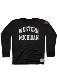 Original Retro Brand Western Michigan Broncos Black Arch Fashion Tee
