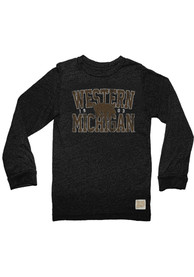 Original Retro Brand Western Michigan Broncos Black Mock Twist Fashion Tee