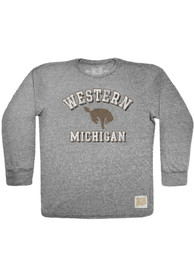 Original Retro Brand Western Michigan Broncos Grey Triblend Fashion Tee