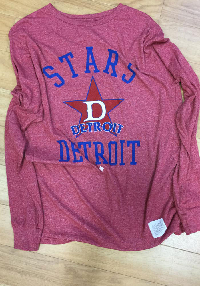 Original Retro Brand Detroit Stars Red Mock Twist Long Sleeve Fashion T Shirt - Image 2