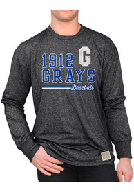 Homestead Grays Original Retro Brand Mock Twist Fashion T Shirt - Black