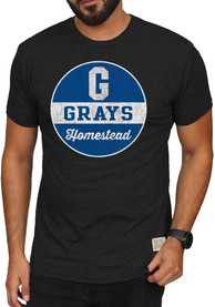 Original Retro Brand Homestead Grays Black Mock Twist Fashion Tee