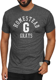 Original Retro Brand Homestead Grays Charcoal Mock Twist Fashion Tee