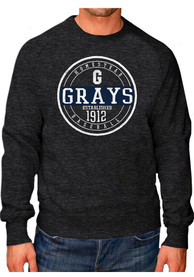 Original Retro Brand Homestead Grays Black Raglan Crew Fashion Sweatshirt