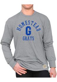 Homestead Grays Original Retro Brand Mock Twist Fashion T Shirt - Grey