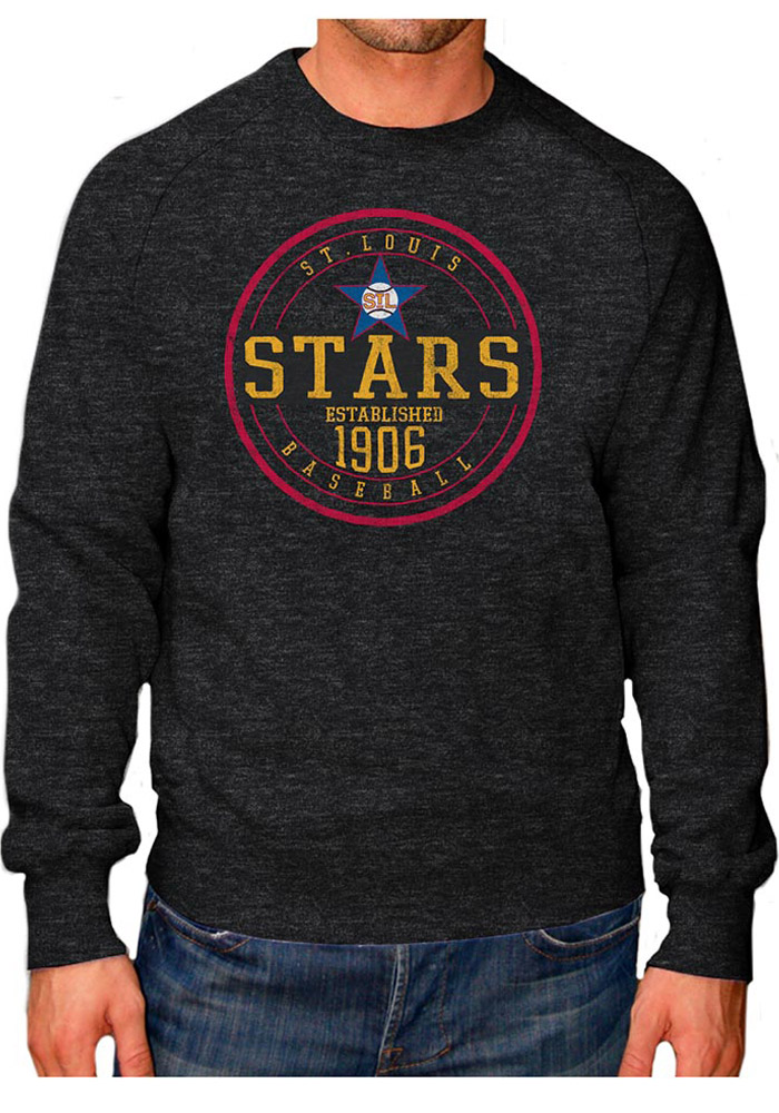 Original Retro Brand St Louis Stars Mens Black Raglan Crew Long Sleeve Fashion Sweatshirt - Image 1