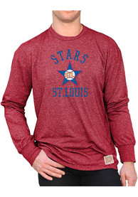 St Louis Stars Original Retro Brand Mock Twist Fashion T Shirt - Red