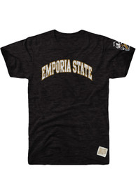 Emporia State Hornets Original Retro Brand Arch Fashion T Shirt - Black