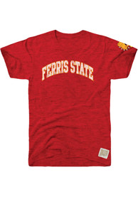 Original Retro Brand Ferris State Bulldogs Red Arch Fashion Tee