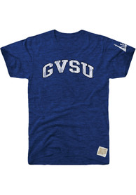 Original Retro Brand Grand Valley State Lakers Blue Arch Fashion Tee
