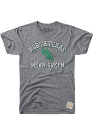 Original Retro Brand North Texas Mean Green Grey Number One Fashion Tee