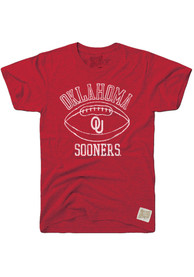 Original Retro Brand Oklahoma Sooners Crimson Vault Football Fashion Tee