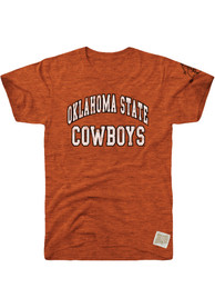 Original Retro Brand Oklahoma State Cowboys Orange Arch Fashion Tee