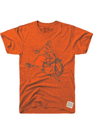 Original Retro Brand Oklahoma State Cowboys Orange Logo Fashion Tee