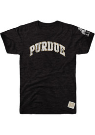 Original Retro Brand Purdue Boilermakers Black Arch Fashion Tee